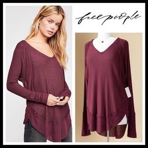 FREE PEOPLE BOHO V-NECK TUNIC PULLOVER TOP A2C